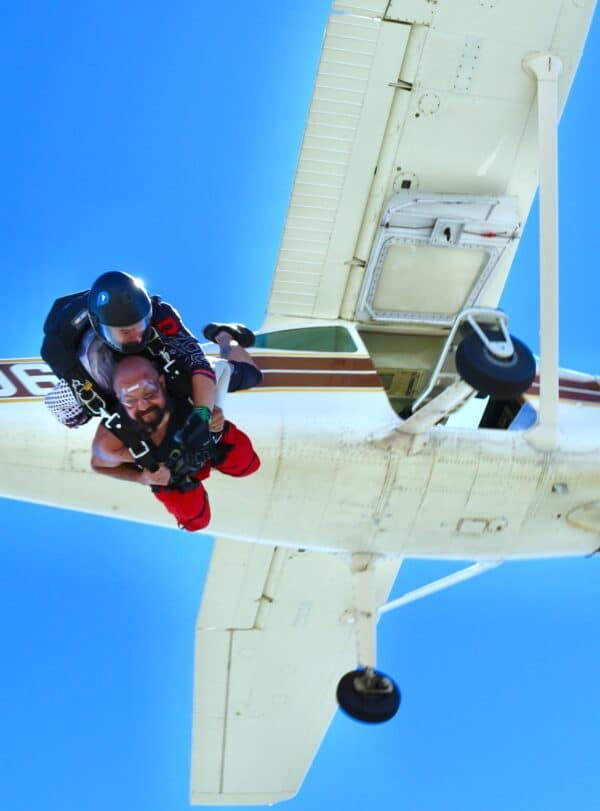 Man Skydiving at DZONE® Skydiving
